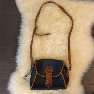 Vintage Navy Dooney and Bourke Leather Bag